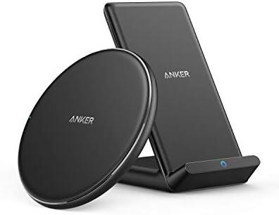 [해외]Anker Wireless Chargers Bundle PowerWave Pad & Stand Upgraded Qi-Certified 7.5W for iPhone 11 11 Pro 11 Pro Max Xs Max XR XS X 8 10W for Galaxy S20 S10 S9 Note 10 Note 9 (No AC Adapter) / Anker Wireless Chargers Bundle PowerWave Pa...