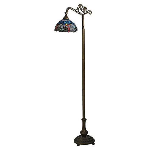 Tiffany Hanginghead Dragonfly Bridge Arm Floor Lamp