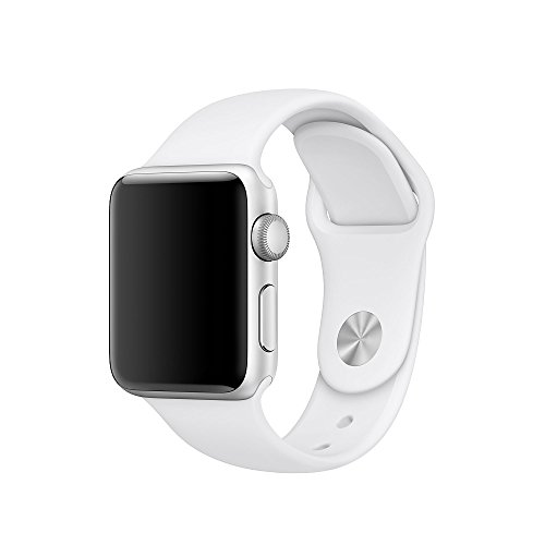 Icesnail Silicone Soft Replacement Bands for 38mm / 42mm All Apple Watch Models 38mm White