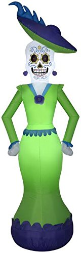 Gemmy 7' Airblown Day of the Dead Woman Halloween Inflatable