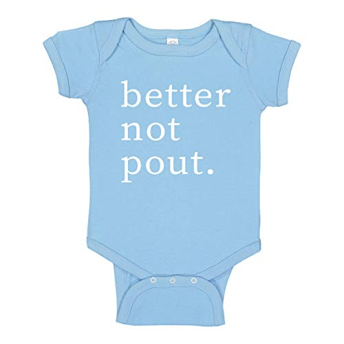 Baby Romper Better Not Pout Light Blue for 18 Months Infant Bodysuit ()