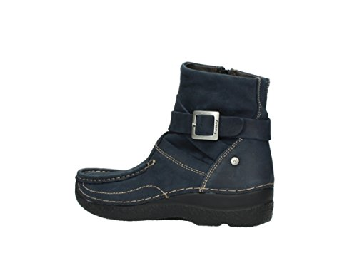 Ankle Roll Nubuck Oiled Wolky Blue Comfort Point Boots 11802 n7zRWx