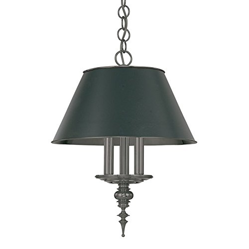 Hudson Valley 9521-AN Cheshire Pendant, 3-Light 180 Total Watts, Antique Nickel