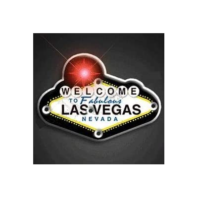 blinkee Welcome to Vegas Flashing Body Light Lapel Pins by: Toys & Games