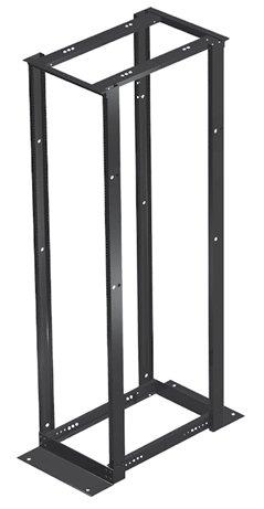E4DRS19FM45U: Hoffman 4-Post Open Frame Rack, 45RU, 7'H