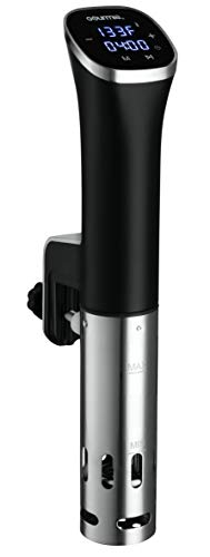 Gourmia GSV115 - Immersion Compact Sous Vide Pod with LED Display - Digital Timer - Accurate Cooking - 800 Watts - Recipe Book Included