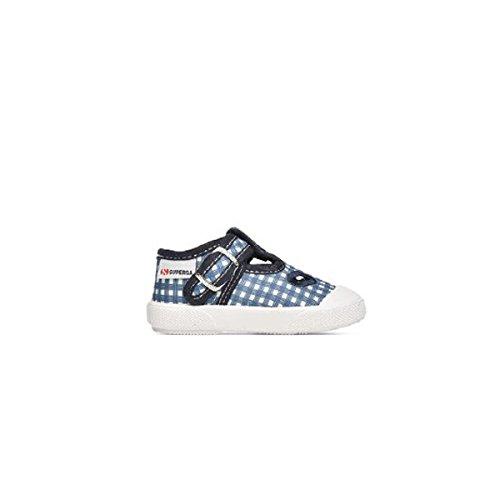 Sandalo Bue In Occhio Baby Blu Tessuto Scarpe S21i364 Superga Di vnxTxa