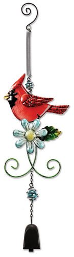 - Sunset Vista Designs Metal and Glass Cardinal Bouncy Hanging Decoration