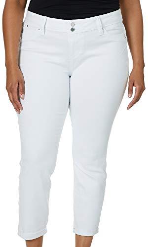 - Royalty by YMI Juniors Plus Wannabettabutt Ankle Jeans 14W White
