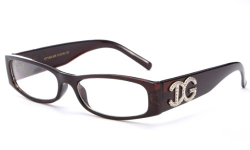 Newbee Fashion® - IG Unisex Clear Plastic High Fashion Zebra Print Clear Lens Glasses