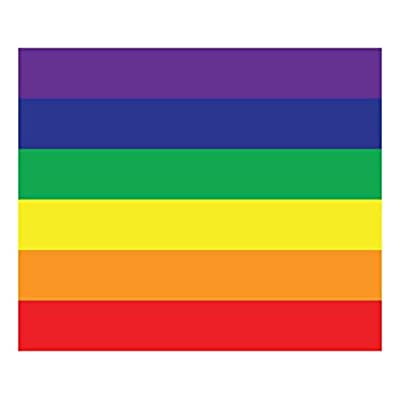 Wall26 Removable Wall Sticker/Wall Mural - Pride Flag Gay Pride Flag/LGBT Pride Flag Rainbow Flag Pattern | Creative Window View Home Decor/Wall Decor - 36