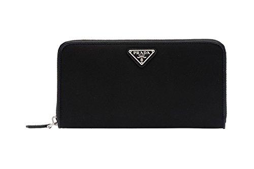 Prada Women's Tessuto Zip Around Wallet 1ML506