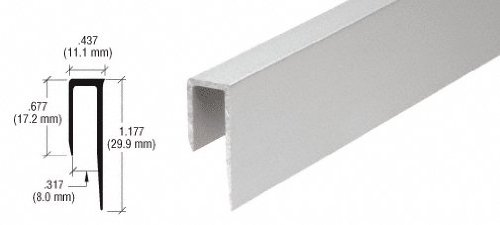 CRL Satin Anodized Aluminum Deep Nose 5/16