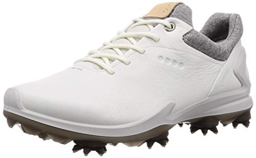 Ecco Leather Golf Shoe - ECCO Men's Biom G3 Gore-TEX Golf Shoe, Shadow White Yak Leather, 13 M US