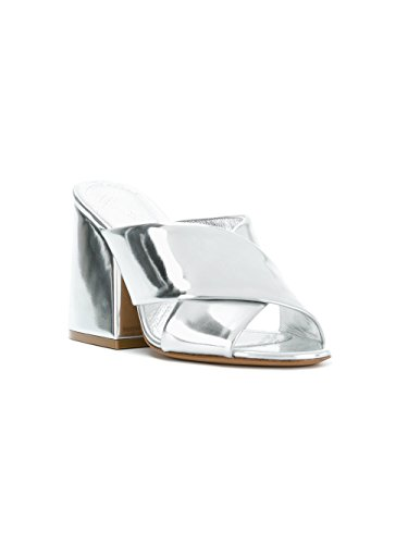 Maison Margiela Women's S58WP0116S48818905 Silver Leather Sandals 8Jd6jb