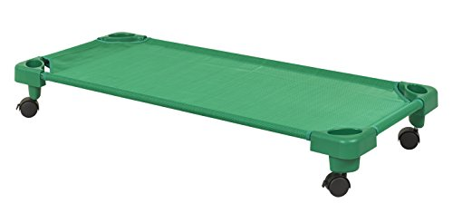 (ECR4Kids Children's Naptime Cot with Wheels, Stackable Daycare Sleeping Cot for Kids, 52