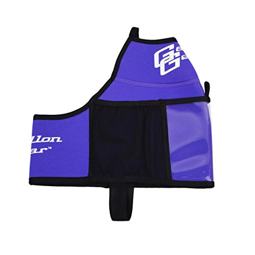 Gallon Gear Fitness Hydration Gallon Cover | Neoprene Insulated Cooling and Portable Gym Water Bottle Carrier | Case with Storage Pockets (Purple, Gallon)