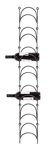 Creative Co-op Metal Wall Wine Bottle Holder, Black