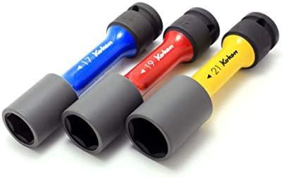 コーケン 1/2(12.7mm)SQ. インパクトホイールナット用ソケットセット(薄肉) 3ヶ組 14201M