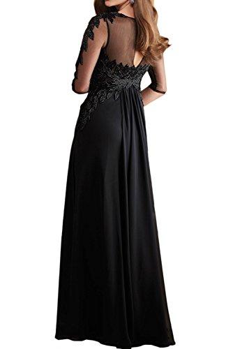 Festkleid Elegant Ivydressing Chiffon Abendkleider Ballkleid Violett Arm Damen Lang Spitze Partykleider qSSO0A5