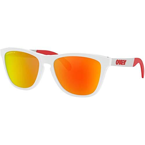 Oakley Men's Frogskins Mix A Sunglasses,One Size,White/Red (Oakley Ersatzgläser Fives 3.0)