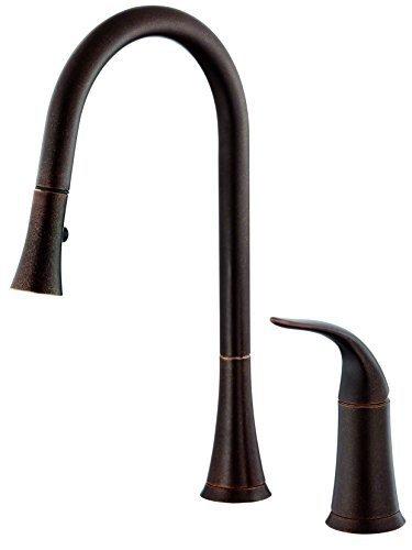 Danze D459022BR Antioch Snapback Single Handle Pull Down Kitchen Faucet, Tumbled Bronze by Danze by Danze