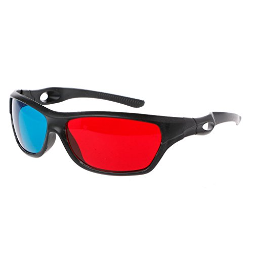 gszfsm001 Universal White Frame Red Blue Anaglyph 3D Glasses For Movie Game...