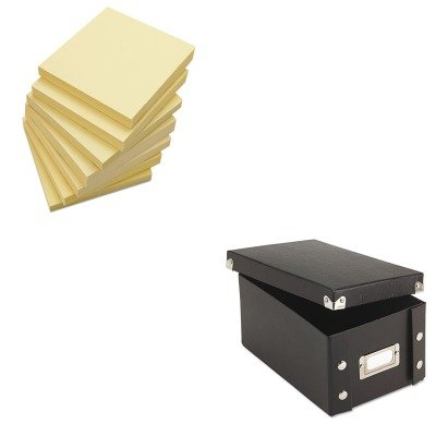 KITIDESNS01577UNV35668 - Value Kit - Snap-n-store Snap 'N Store Collapsible Index Card File Box Holds 1 (IDESNS01577) and Universal Standard Self-Stick Notes (UNV35668)