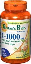 Fierté Vitamine C-1000 de Mg de Puritan avec bioflavonoïdes et Rose Hips 100 Caplets 1 Bouteille