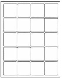 """(12 SHEETS) 240 2""""x2"""" INCH SQUARE WHITE STICKERS FOR INKJET & LASER PRINTERS - 8-1/2""""X11"""" STANDARD SHEETS LABELS"""