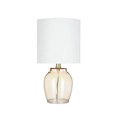 Ravenna Home Glass Table Lamp, Bulb Included, 15.5