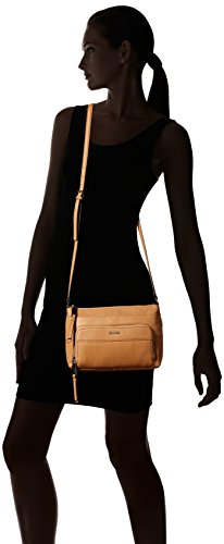 Klein Leather Pebble Buff Cream Crossbody Zip Calvin Top dPw6qFII