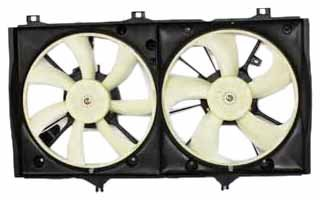Toyota Camry Radiator Fan Shroud - TYC 621900 Toyota Camry Hybrid Replacement Radiator/Condenser Cooling Fan Assembly
