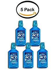 PACK OF 5 - ACT Restoring Anticavity Mouthwash, Cool Splash Mint, 33.8 Fl Oz