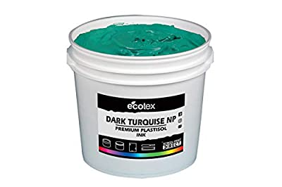 Ecotex Dark Turquoise Plastisol Ink for Screen Printing - Non Phthalate Formula - All Sizes