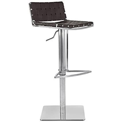 Astounding Safavieh Home Collection Mitchell Stainless Steel And Brown Leather Adjustable Gas Lift 21 7 30 7 Inch Bar Stool Gmtry Best Dining Table And Chair Ideas Images Gmtryco