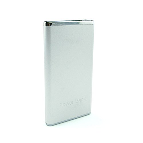 Price comparison product image AWETEK Power Bank 4800mAh Aluminum Alloy, Ultra-thin High Capacity portable battery charge For Samsung Galaxy Android Phone Smartphone Tablets Pc Bluetooth Speaker-Silver