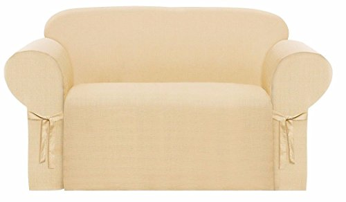 (Collection Heavy-Duty Jacquard Loveseat Slipcover,)