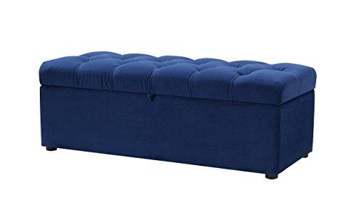 Jennifer Taylor Home 85181-859 Arlo Storage Bench Navy Blue