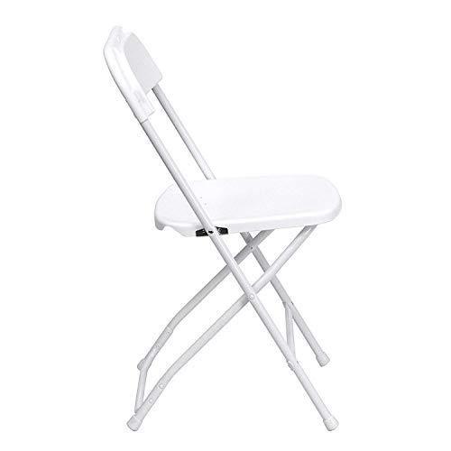 Flash Furniture 10 Pk. HERCULES Series 650 lb. Capacity Premium White Plastic Folding Chair from Flash Furniture