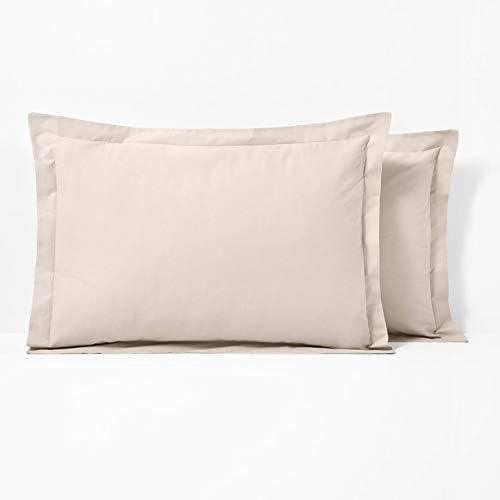 RoyalLinenCollection - Juego de 2 fundas de almohada (100% algodón ...