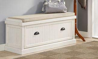 Amazon.com: HomeK- End of Bed Storage Bench-Bedroom Benches at Foot ...