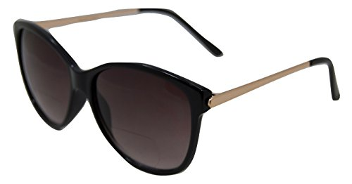 In Style Eyes Posh Womens Bifocal Sunglasses Black 1.25
