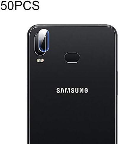 ZQ House 50PCS Soft Fiber Back Camera Lens Film Tempered Glass Film Protector Film for Galaxy A6s 9H Hardness