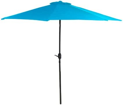 7.5' Outdoor Patio Powder-Coated Steel Market Umbrella