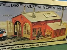 2 Stall Diesel House Con-Cor Locomotive Shed Engine Garage HO Scale Train Kit