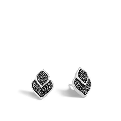 John Hardy Women's Legends Naga Silver Stud Earrings with Black Sapphire and Black -