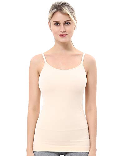 unilane Women's Shapewear Tank Top Cami Shaper Seamless Spandex Compression Firm Tummy Control Body Shaping Camisole Nude
