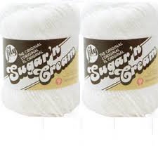 Cream N Cone Yarn Sugar - Bulk Buy: Lily Sugarn Cream (2-pack) (White)