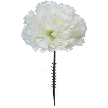 Amazon 100 carnations 5 cream white artificial silk flower 100 carnations 5 cream white artificial silk flower pick multiple colors available mightylinksfo